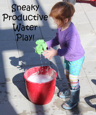 Sneaky poductive water play
