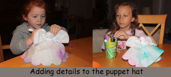 Adding details to our Puppet Hats