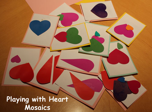 Playing with Heart Mosaics