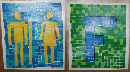 Letter Signs with Mosaics
