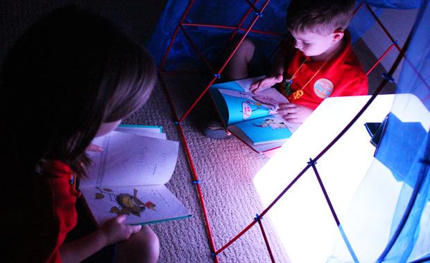 light box cube reading house