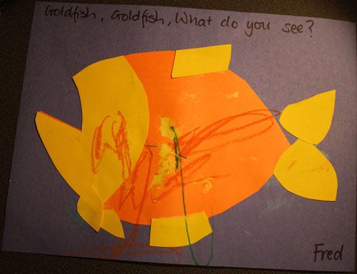 Goldfish, Goldfish, what do you see?